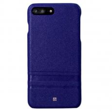 Чехол-накладка Just Must SU III Collection для iPhone 7/8 Plus, поликарбонат / натуральная кожа, синий, фото 1