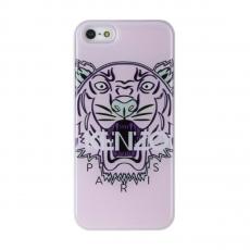 """Чехол KENZO для iPhone 5, 5S и SE, бежевый , принт """"Тигр"""", фото 1"""