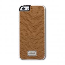 Чехол Patchworks Classique Snap Leather Lizard для iPhone 5, 5S и SE, коричневый, фото 1