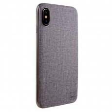 Чехол Uniq Glacier Luxe Kanvas для iPhone X, серый, фото 1