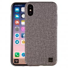 Чехол Uniq Glacier Luxe Kanvas для iPhone X, серый, фото 2