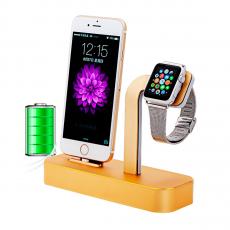 Док-станция COTEetCI Base Dock, для iPhone и Apple Watch, золотистый, фото 2