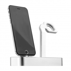 Фото док-станции для iPhone и Apple Watch COTEetCI Base Dock Silver