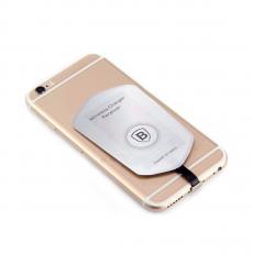 Переходник для беспроводной зарядки Baseus QI charging receiver Apple, серый/белый, фото 1