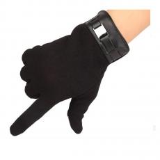 Кашемировые перчатки для емкостных дисплеев iCasemore, черный, фото 1