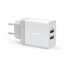 Сетевое зарядное устройство Anker 2 USB, 24W, 4.8A, белое, фото 1