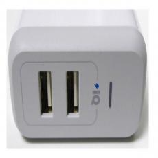 Сетевое зарядное устройство Anker 2 USB, 24W, 4.8A, белое, фото 3