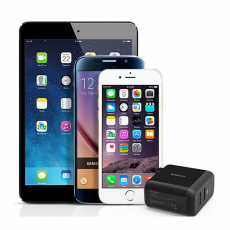 Сетевое зарядное устройство Anker 2 USB, 24W, 4.8A, черное, фото 1