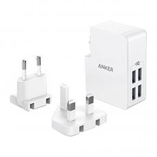 Сетевое зарядное устройство Anker PowerPort 4 Lite, белое - фото