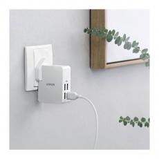 Сетевое зарядное устройство Anker PowerPort 4 Lite, белое, фото 1