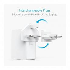 Сетевое зарядное устройство Anker PowerPort 4 Lite, белое, фото 3