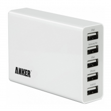 Сетевое зарядное устройство Anker PowerPort 5 USB, 25W, 5A, белый, фото 1