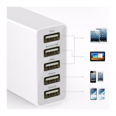 Сетевое зарядное устройство Anker PowerPort 5 USB, 25W, 5A, белый, фото 4