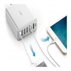 Сетевое зарядное устройство Anker PowerPort+ 6, белое, фото 3