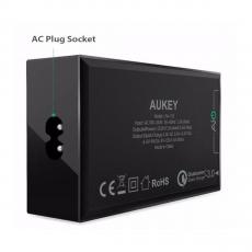 Сетевое зарядное устройство Aukey, 40 Вт, черное, фото 2