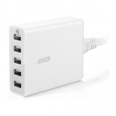 Сетевое зарядное устройство PowerPort 5, 40 Вт, белое, фото 1
