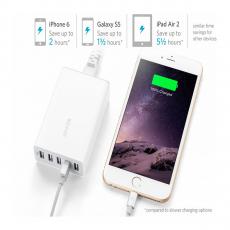 Сетевое зарядное устройство PowerPort 5, 40 Вт, белое, фото 3