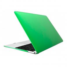 Чехол накладка пластиковая Novelty для Macbook 12, зеленая - фото
