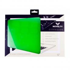 Чехол-накладка Novelty для Macbook 12, зеленая, фото 2