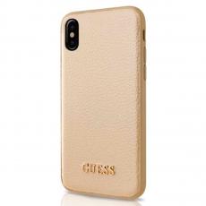 Чехол-накладка Guess Iridescent для IPhone X/XS, поликарбонат / эко-кожа, золотой, фото 1