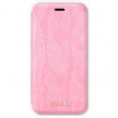 Чехол-книжка Guess Python для IPhone X/Xs, поликарбонат / эко-кожа, розовый, фото 1
