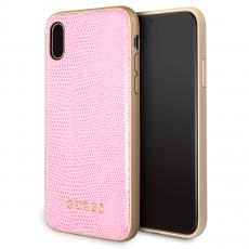 Чехол-накладка Guess Python для IPhone X/Xs, полиуретан / эко-кожа, розовый, фото 1