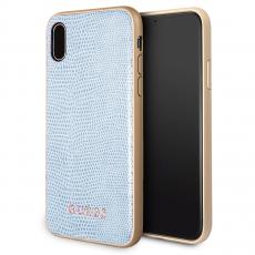 Чехол-накладка Guess Python для IPhone X/Xs, полиуретан / эко-кожа, синий, фото 1