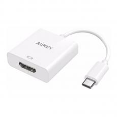 Переходник Aukey, с USB-C на HDMI, белый, фото 1
