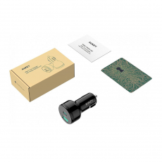 фото товара АЗУ AUKEY с 2 умными портами: 24 Ватт USB-C POWER DELIVERY и USB 12 Ватт/ 2.4А, черный, СС-Y7