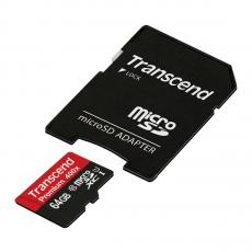 Карта памяти с адаптером Transcend microSDXC UHS-1, 64GB, фото 1