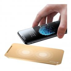 фото товара Беспроводное зарядное устройство Baseus для iPhone , кабель в комплекте, золотой, WXHSD-0V