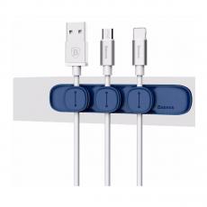 Держатель для проводов Baseus Peas Cable Clip, синий, фото 1