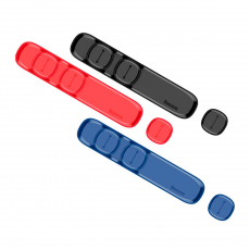 Держатель для проводов Baseus Peas Cable Clip, синий, фото 2
