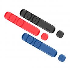 Держатель для проводов Baseus Peas Cable Clip, красный, фото 2