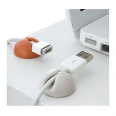 держатель для проводов Bluelounge CableDrop, 6 шт., белый / оранжевый / коричневый, фото 2