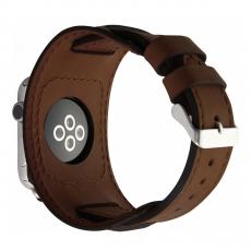 Кожаный ремешок Cozistyle Wide Leather Band для Apple Watch, коричневый, фото 1