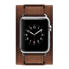 Кожаный ремешок Cozistyle Wide Leather Band для Apple Watch, коричневый, фото 2