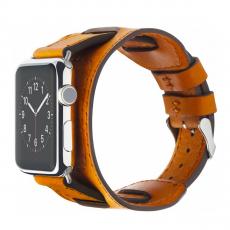 Кожаный ремешок Cozistyle Wide Leather Band для Apple Watch, светло-коричневый-фото