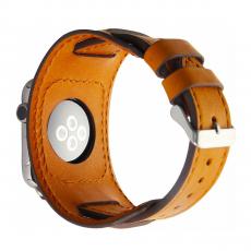 Кожаный ремешок Cozistyle Wide Leather Band для Apple Watch, светло-коричневый, фото 1