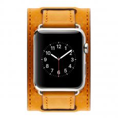Кожаный ремешок Cozistyle Wide Leather Band для Apple Watch, светло-коричневый, фото 2