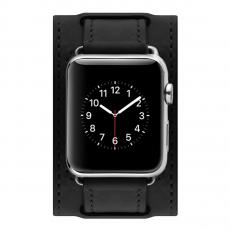 Кожаный ремешок Cozistyle Wide Leather Band для Apple Watch, черный, фото 2