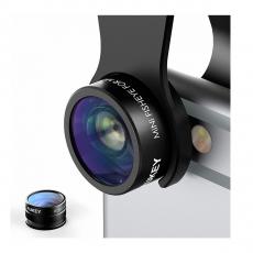 Объектив AUKEY PL-A2 Fisheye + 20X Macro 2 in 1 Lens (mini ) (ритейл), фото 1