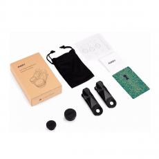 Набор объективов Aukey Optic Pro 3 in 1 Lens, черный, фото 1