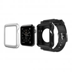 фото товара Чехол защитный Simpeak для Apple Watch 42mm Series 1/2, черный/белый