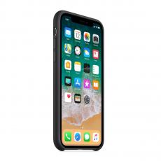 фото товара Чехол Apple силиконовый для iPhone Х, черный, MQT12