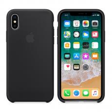 Чехол-накладка для iPhone Х Apple силиконовый, черный, фото 1