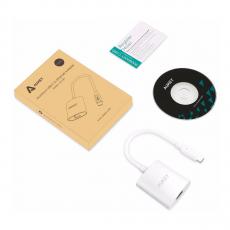 Адаптер Aukey USB-C к Ethernet, белый, фото 2