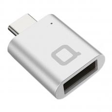 Адаптер Nonda Mini, с USB-C на USB-A (3.0), серебристый, фото 1