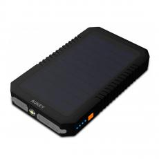 Внешний аккумулятор Aukey Dual USB Port Solar Battery 12000 мАч, черный-фото