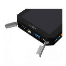 Внешний аккумулятор Aukey Dual USB Port Solar Battery 12000 мАч, черный, фото 1